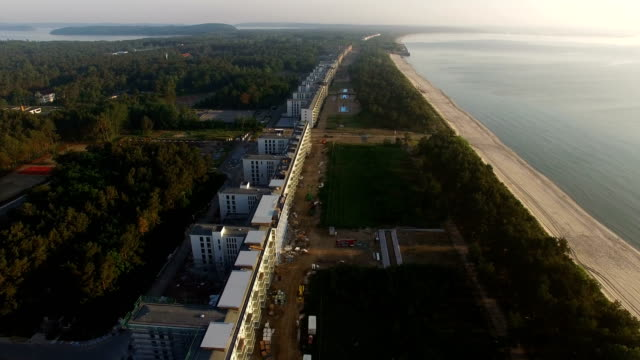 prora, once a nazi-era ruin, now under development - kraft stock videos & royalty-free footage