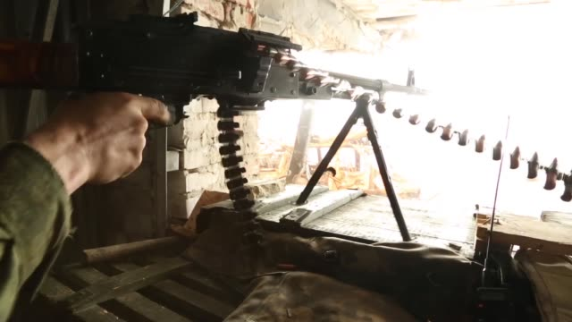 ProRussian rebels getting ready for battle in the Donetsk International Airport