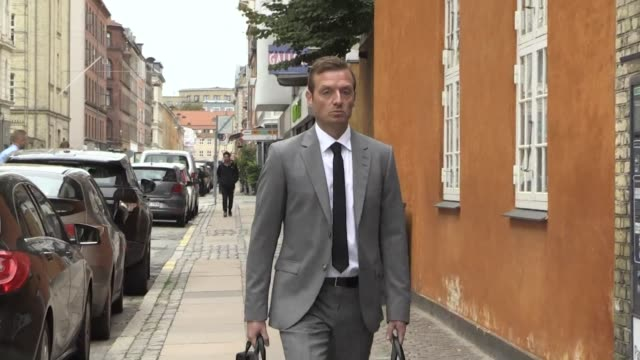 prosecutor kristian kirk and defense attorney betina hald engmark arrive in court for the second day of the appeal trial of danish inventor peter... - oresund region stock videos & royalty-free footage