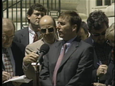 prosecutor sean connelly talks to reporters after oklahoma city bomber timothy mcveigh loses his bid to delay his execution. - timothy mcveigh stock videos & royalty-free footage