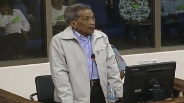 prosecutors at cambodia's unbacked war crimes court seek a life sentence for former khmer rouge cadre duch saying he lacks remorse for overseeing the... - staatsanwalt stock-videos und b-roll-filmmaterial