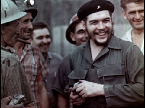 prospecting for cuban oil / che guevara overseeing a copper mine - che guevara stock videos & royalty-free footage