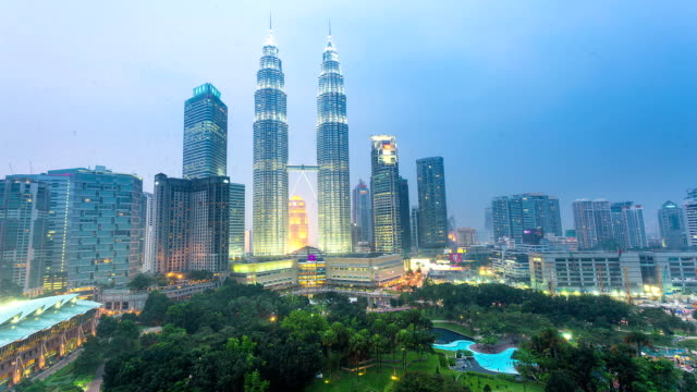 街並み、豊かなマレーシアのタイムラプス