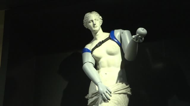 Prosthetic arms for the Venus de Milo the Handicap International NGO on Tuesday equipped a number of the capital's statues with artificial limbs to...