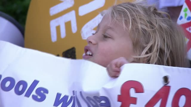 Protest against increasing number of schools closing early on Fridays due to 'funding cuts' ENGLAND West Midlands Birmingham Kings Heath Primary...