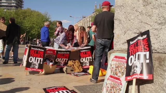 Protest against the new conservative government public spending cuts austerity in Bristol UK May 13th after the 2015 general election