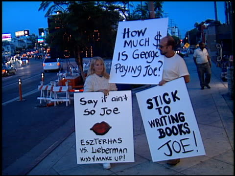 Protest at the Book Signing by Joe Eszterhas at Book Soup in West Hollywood California on August 31 2000