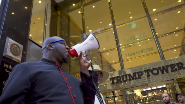 SCOTUS protest Demonstrators rallied near the 5th Avenue Trump Tower in disapproval of President Donald Trump's Supreme Court nominee Brett Kavanaugh...