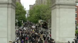 protest for George Floyd in New York City
