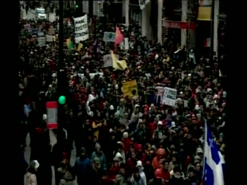 protest march against climate change montreal - 2000s style stock videos & royalty-free footage