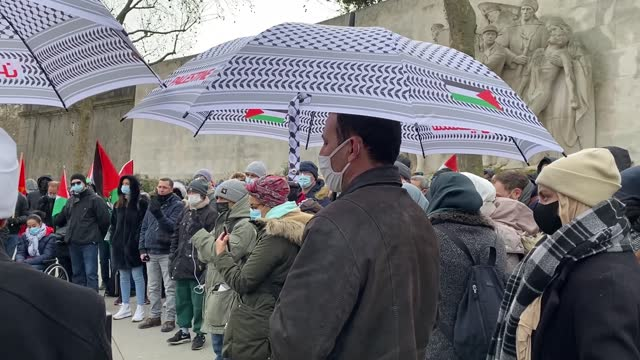 protest was held in the french capital on sunday against islamaphobia and a draft law against radical extremism that muslims fear, if passed, will... - human face video stock e b–roll