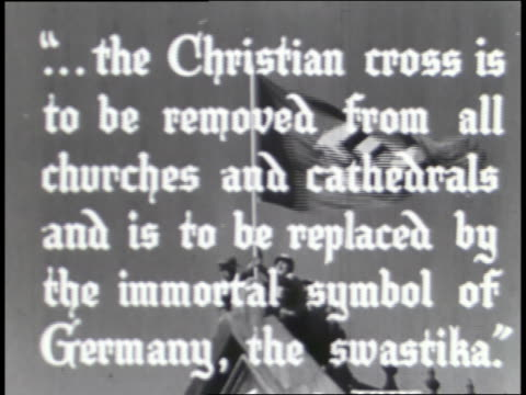protestant and catholic churches are ordered closed in germany. - nazi swastika stock videos & royalty-free footage