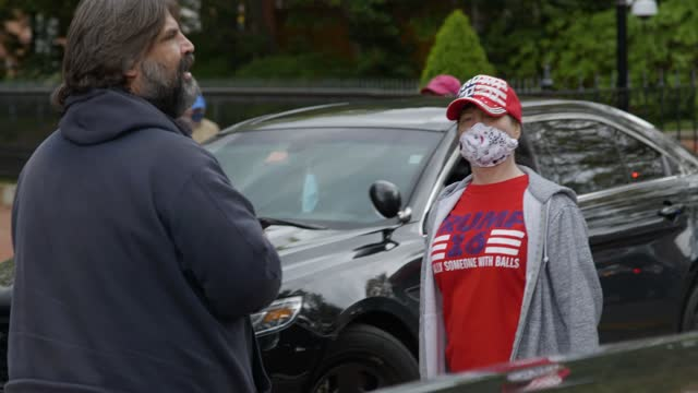 protesters against coronavirus restrictions gathered in annapolis to protest the state lockdown. - maryland stato video stock e b–roll