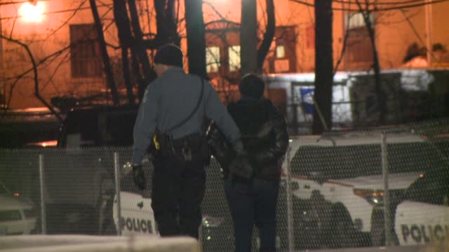 KTVI Protesters arrested outside of Ferguson Police Department after DOJ report release on March 04 2015 in Ferguson Missouri