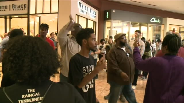 KTVI Protesters Arrests on Black Friday at the St Louis Galleria shopping center on Nov 24 2017