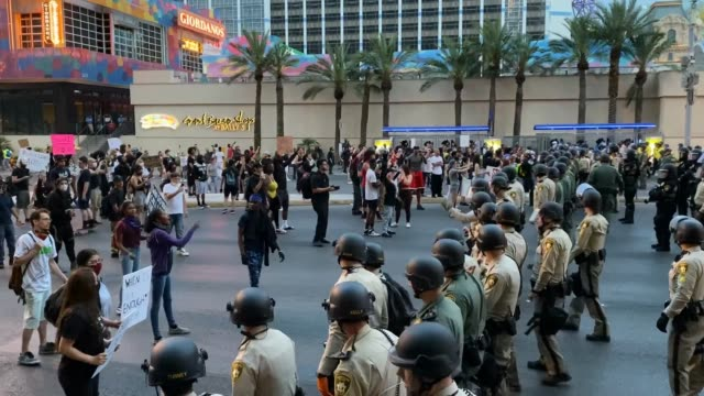 NV: Protests Continue In Las Vegas Over Recent Police Shootings