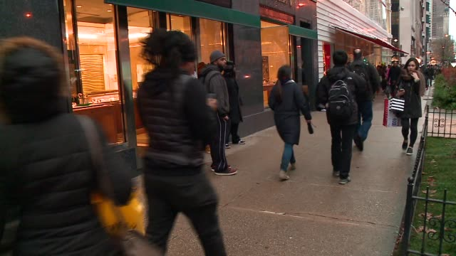 WGN Protesters Block Rolex Store on Michigan Avenue on Black Friday in the wake of the release of the video showing the shooting of 17yearold Laquan...