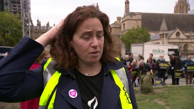 protesters call for the release of nazanin zaghariratcliffe from jail in iran kathy voss interview sot - nazanin zaghari ratcliffe video stock e b–roll