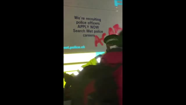 protesters chanted ìshame on youî as london metropolitan police officers attempted to disperse a gathering in memory of sarah everard in clapham... - https stock videos & royalty-free footage