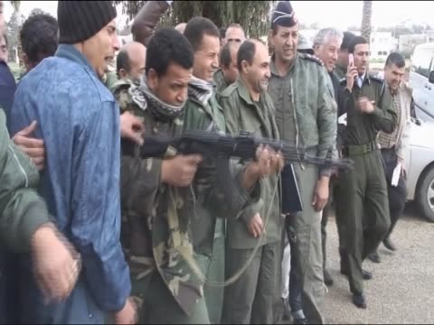 protesters demonstrate against colonel gaddafi - rebellion stock videos & royalty-free footage