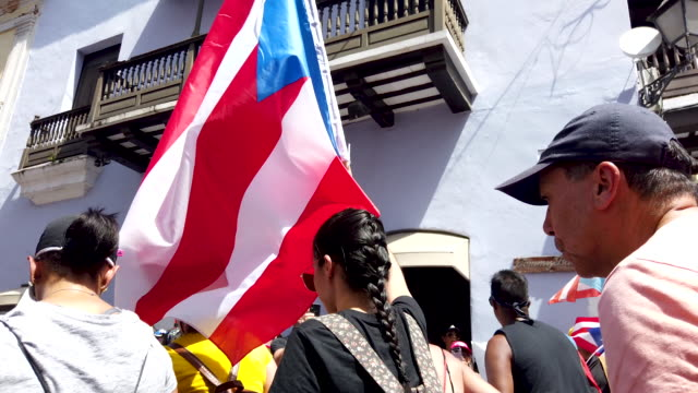protesters demonstrate against ricardo rossello, the governor of puerto rico on july 19, 2019 in old san juan, puerto rico. there have been calls for... - governor stock videos & royalty-free footage