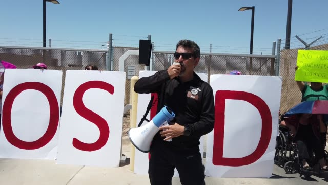 protesters demonstrate in front of the us border patrol facility where lawyers reported that detained migrant children were held unbathed and hungry... - legal occupation stock videos and b-roll footage