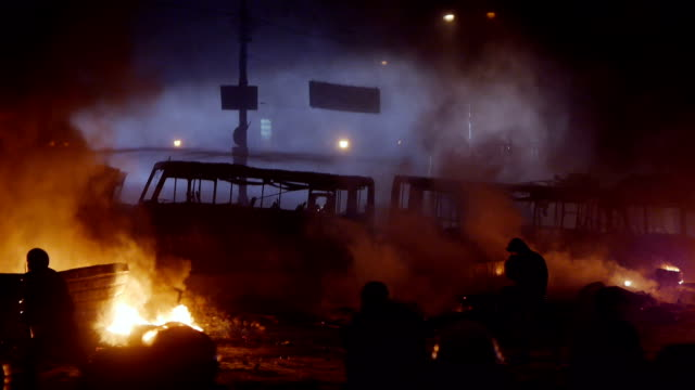 protesters during riot - violence stock videos & royalty-free footage