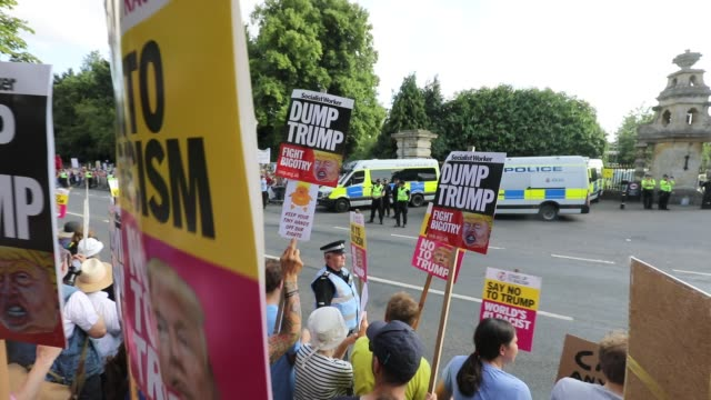 GBR: Protests Against Donald Trump's Visit Take Place Across The UK