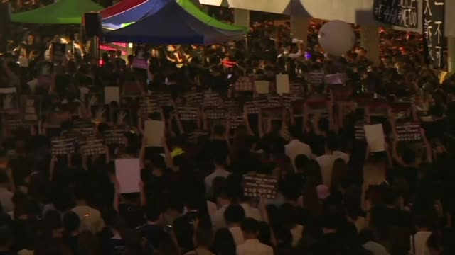 protesters gather in hong kong's downtown central district in a metoo rally to demand the city's police to stop sexual violence against participants... - sexual violence stock videos & royalty-free footage