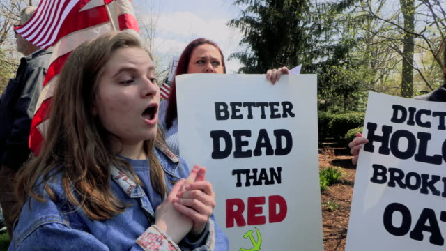 protesters gather outside indiana governor eric holcomb's mansion in the 4700 block of n. meridian street, to protest what they are describing as,... - emergency planning stock videos & royalty-free footage