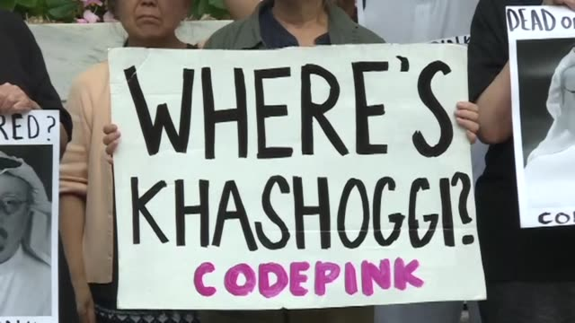 protesters gather outside the embassy of saudi arabia in washington dc as concern grows for missing journalist jamal khashoggi who disappeared on... - embassy stock videos and b-roll footage