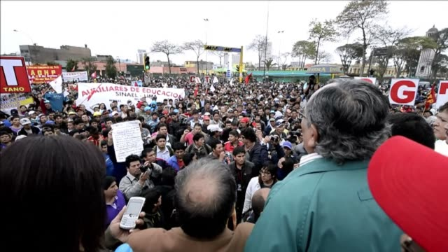 protesters in peru clashed with police and blocked several stretches of the pan american highway thursday as a 24 hour strike got underway against... - pan american highway stock videos & royalty-free footage