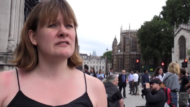 protesters in wheelchairs have blocked the mps' entrance to the house of commons chamber to demonstrate over cuts to benefits the group disabled... - employment issues stock videos & royalty-free footage