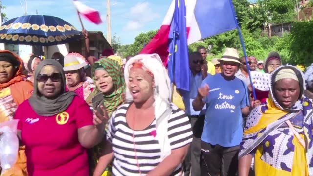 Protesters on the French Indian Ocean island of Mayotte continue to rally against poor living standards and degraded security conditions