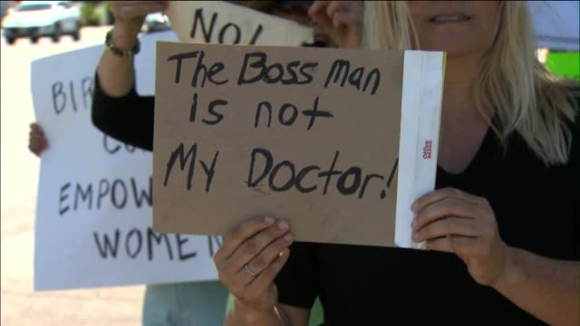 ktla protesters outside of hobby lobby store - contraceptive stock videos & royalty-free footage