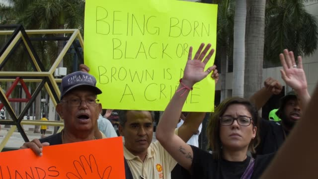 MS protesters outside of the James Lawrence King Federal Justice Building where the US Attorneys Office Southern District of Florida is located on...