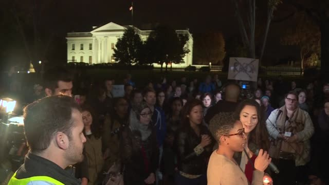 protesters rally across the united states to express shock over donald trump's election victory vowing to oppose divisive views they say helped the... - shock stock videos & royalty-free footage