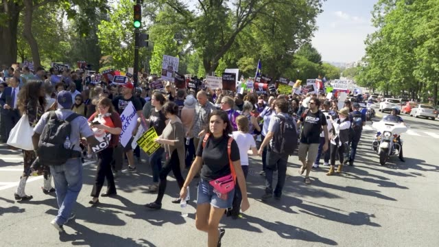 protesters rally against supreme court nominee judge brett kavanaugh on thursday october 04, 2018 in washington, dc. demonstrators marched to the us... - nominee stock videos & royalty-free footage