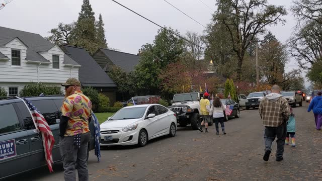 protesters rally in front of mahonia hall the residence of oregon governor kate brown on november 21, 2020 in salem, oregon. protesters angered by... - salem oregon stock videos & royalty-free footage
