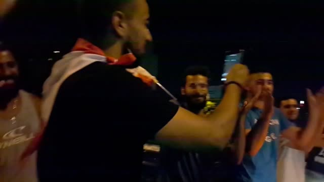 protesters sang baby shark to a frightened toddler after his mum asked them to keep the noise down when eliane jabbour was driving home in baabda... - lebanon country stock videos & royalty-free footage