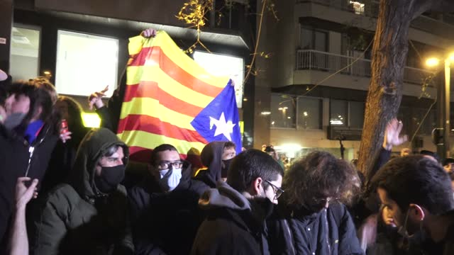 ESP: Protest Against The Sentence Of Catalan Rapper Pablo Hasel
