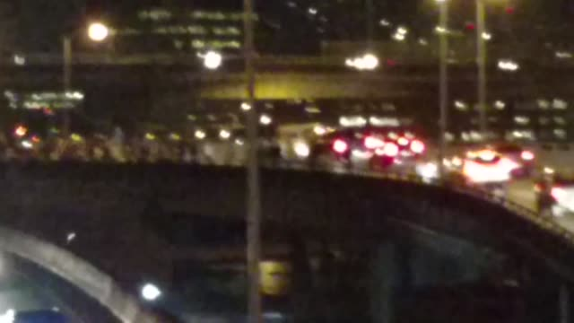 protesters shut down interstate 5 a car doing cookies on the burnside bridge hits bicyclist protesters enter i84 onramp then walk onto i5 portland... - pioneer square portland stock videos & royalty-free footage