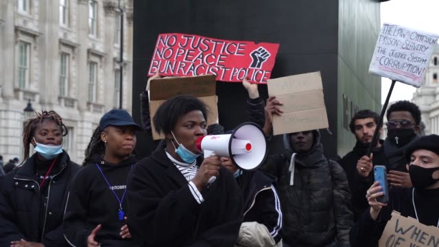 protesters sing and dance in white hall in london on june 7, 2020 in london, united kingdom. the death of an african-american man, george floyd,... - slow stock videos & royalty-free footage