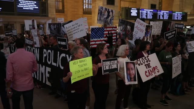 protesters stage a demonstration in support of those deported by the immigration and customs enforcement division of the department of homeland... - ice us homeland security stock videos & royalty-free footage
