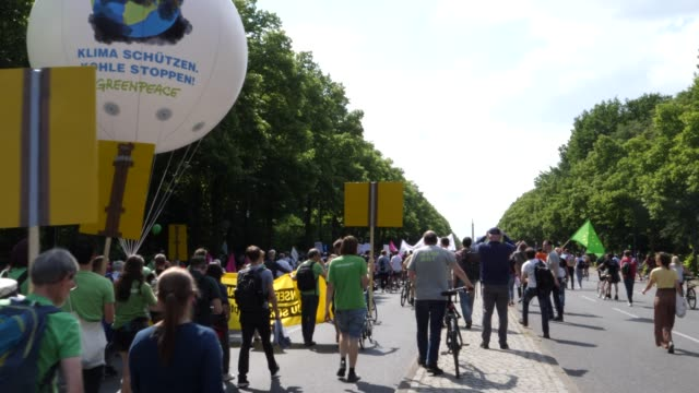 """protesters take part in the """"one europe for all"""" march on may 19, 2019 in berlin, germany. thousands of people are marching in similar events in... - greenpeace stock videos & royalty-free footage"""