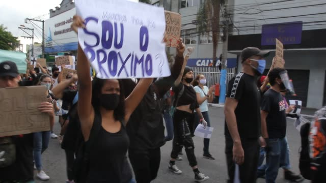 BRA: Black Lives Matter Protest in Sao Goncalo Amidst the Coronavirus (COVID - 19) Pandemic