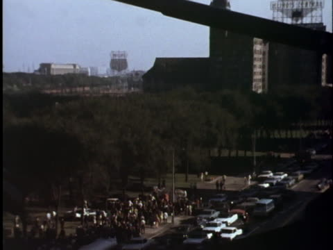 protesters take to the streets near chicago's lincoln park during the 1968 democratic national convention - united states and (politics or government) stock videos & royalty-free footage
