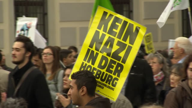 Protesters take to the streets of Vienna in a rally against the rise of the farright Freedom Party of Austria