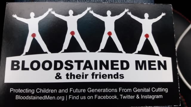 ngo protesting circumcision at corner of hodges and beach blvd - beschneidung stock-videos und b-roll-filmmaterial