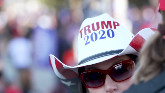 protesting the 2020 us presidential elections thousands of president donald trump supporters rally and march to the us supreme court in downtown... - cowboy hat stock videos & royalty-free footage